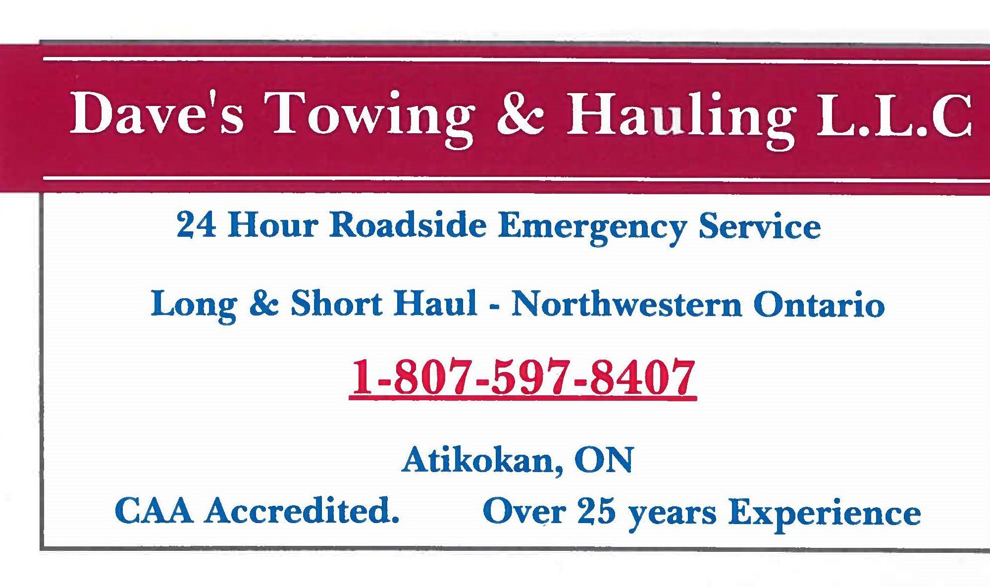 Dave's Towing & Hauling