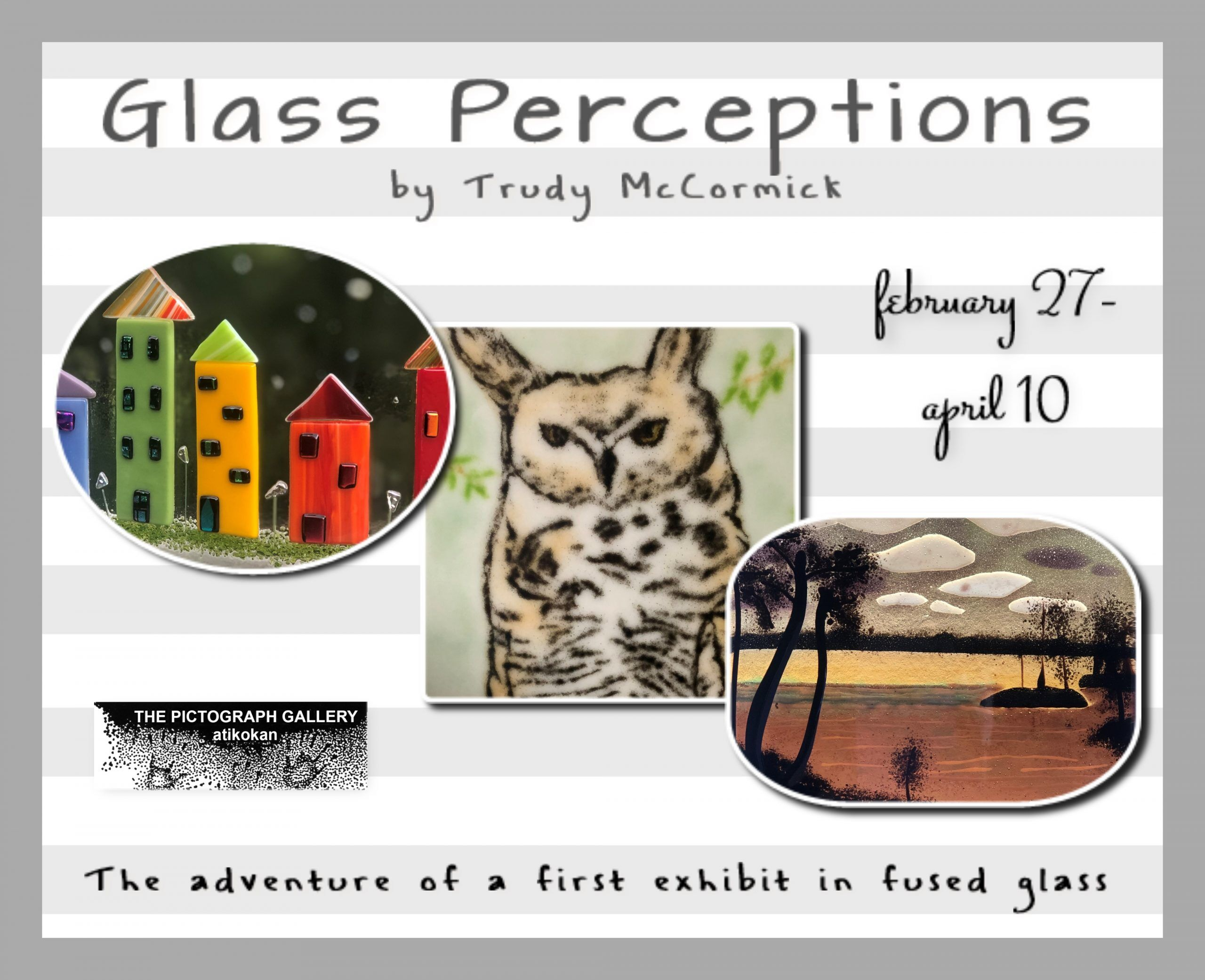 Pictograph Gallery presents Glass Perception by Trudy McCormick February 21 to April 10, 2021